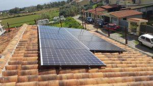 impianto fotovoltaico da 3 kWp su tetto in legno